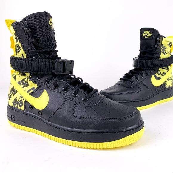 bdf2c4751e12a Nike Shoes | Sf Af1 Air Force 1 High Dynamic Yellow Black | Poshmark